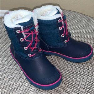 Keen Girls Elsa Rubber Snow Boots, Blue, Size 12